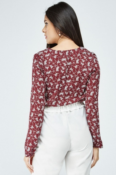 Ditsy Floral Printed Blouse
