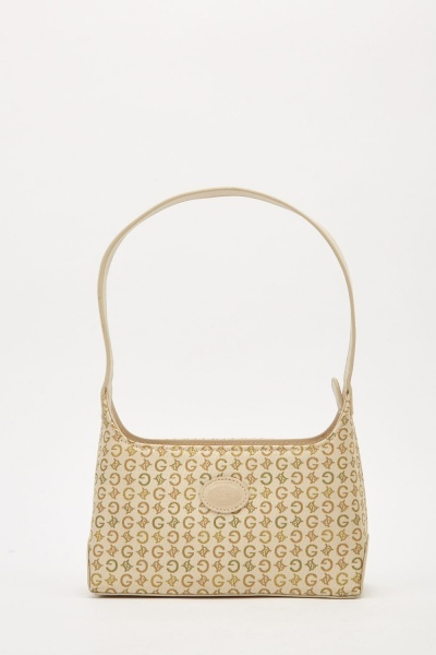Contrasted Logo Embroidered Small Bag