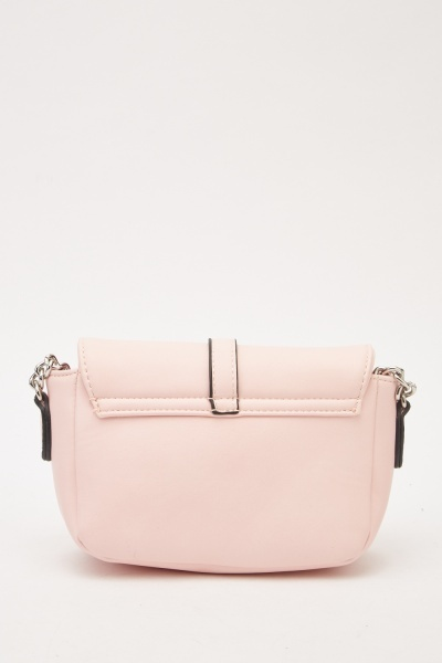 Faux Leather Buckled Bag