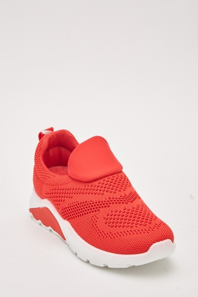 Laser Cut Slip On Trainers