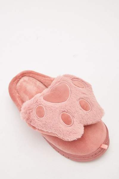 Paw Print Slippers