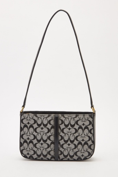 Textured Print Shoulder Bag
