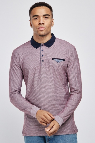 Long Sleeve Basic Polo Shirt