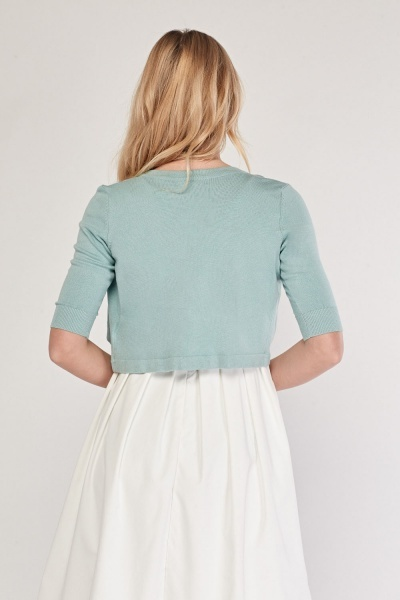 Open Front Crop Knit Bolero