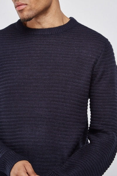 Ribbed Thin Knit Jumper