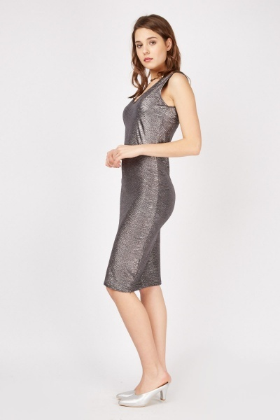 Sleeveless Lurex Bodycon Dress