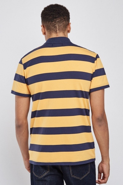 Horizontal Striped Polo Shirt