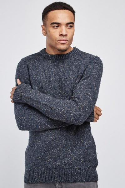 Long Speckled Knit Jumper