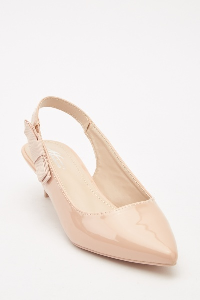 Slingback Kitten Heeled Shoes