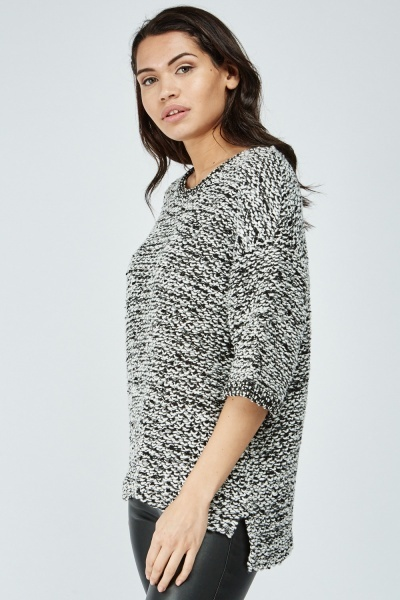 Chunky Speckled Knit Top