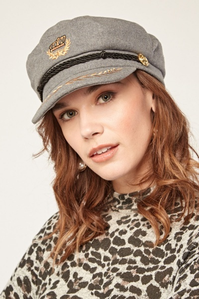 Embroidered Military Style Baker Cap