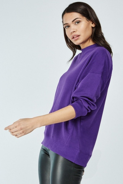 Round Neck Basic Sweatshirt