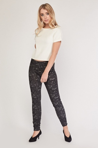Speckled Skinny Leggings