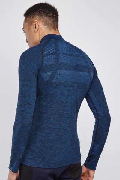 Long Sleeve Zip Up Sports Top