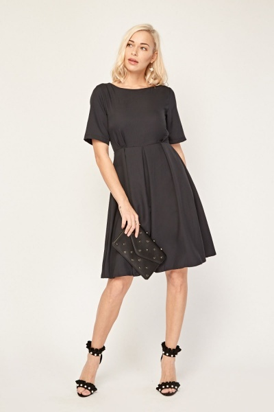 Box Pleated A-Line Dress