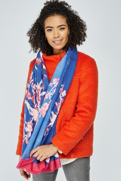 Delicate Flower Print Scarf