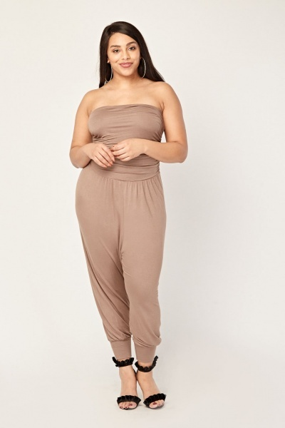 Gathered Bandeau Harem Jumpsuit