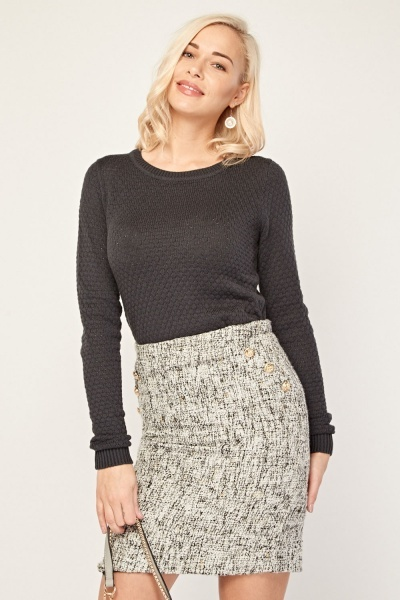 Patterned Soft Knit Jumper
