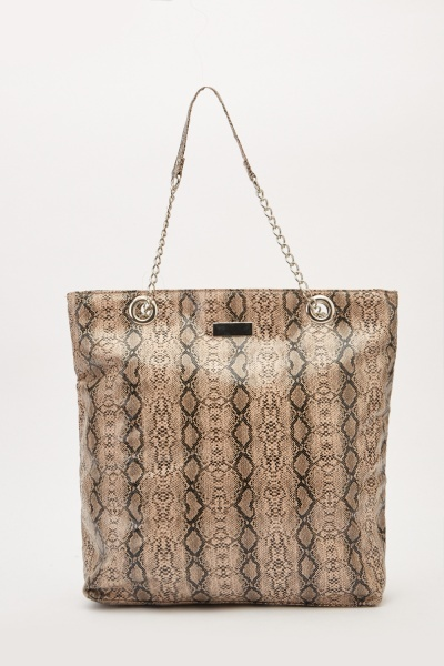 Animal Print Large Handbag