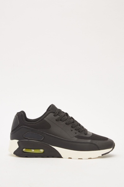 Contrasted Perforated Lace Up Trainers