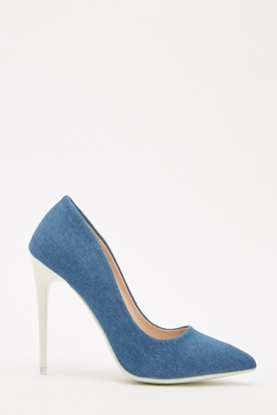 Denim Court Heeled Shoes