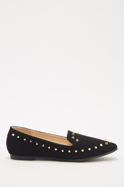 Studded Front Ballet Pumps