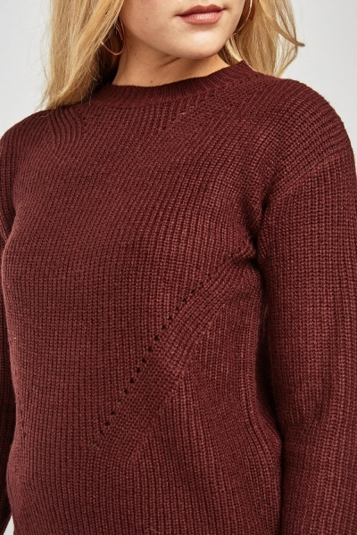 Herringbone Knit Jumper