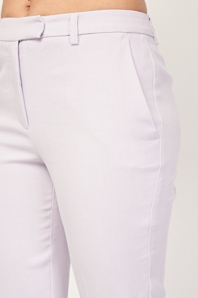 Straight Fit Cigarette Trousers