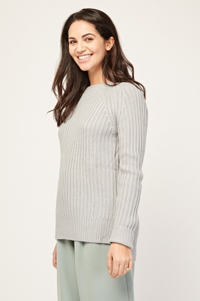 Contrasted Knitted Jumper