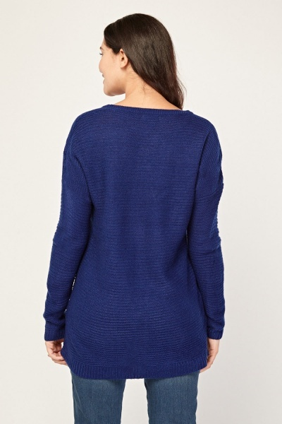 Crew Neck Casual Knit Jumper