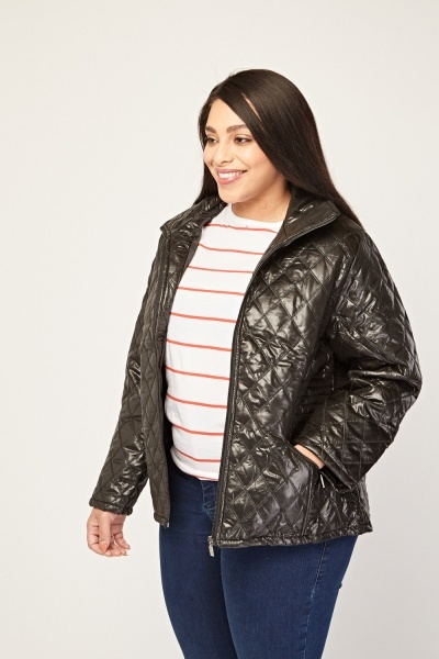 Diamond Stitched Quilted Jacket
