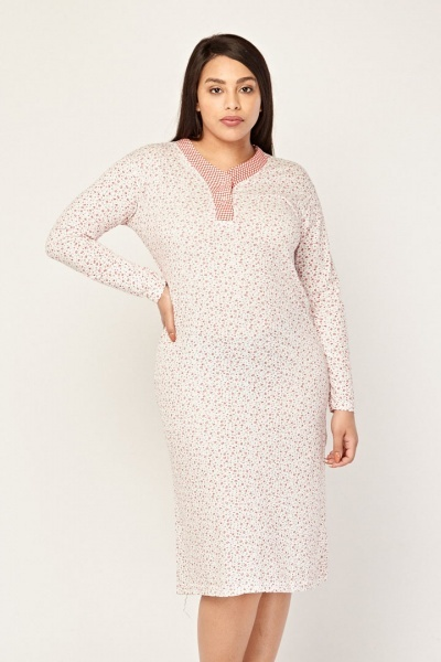 Ditsy Floral Print Night Dress