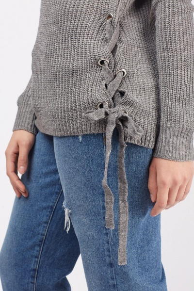 Lace Up Side Soft Knit Jumper