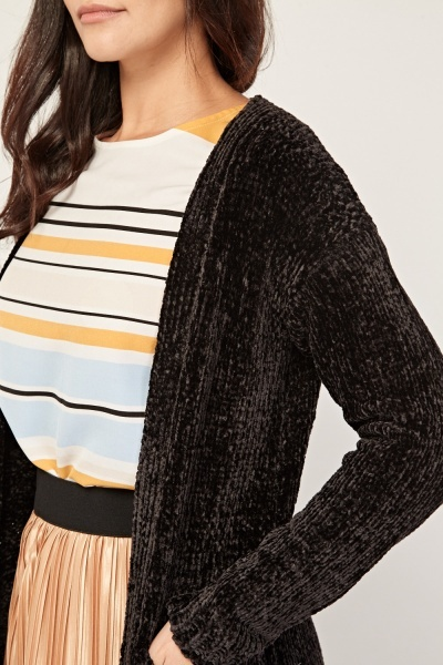 Textured Chenille Knit Cardigan