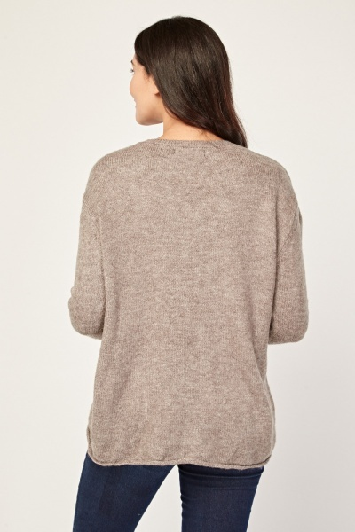 Textured Chunky Jumper
