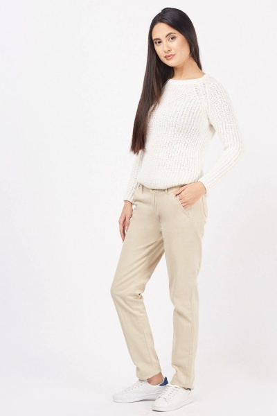 Straight Leg Basic Trousers
