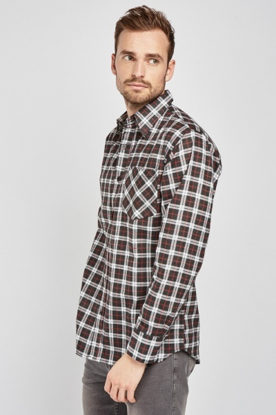 Fitted Checkered Shirt