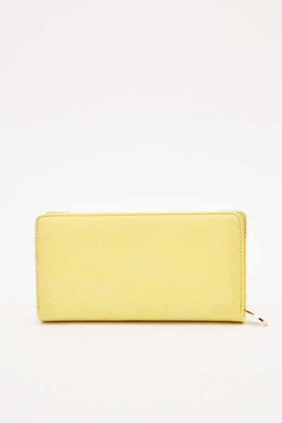 Metallic Trim Faux Leather Purse