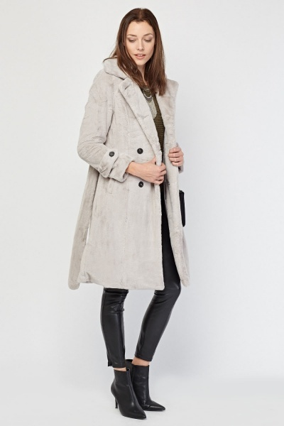 Soft Faux Fur Long Coat