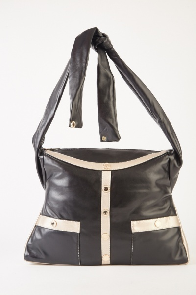 Front Detailed Contrasted Bag