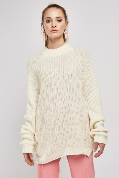 High Neck Chunky Knit Jumper