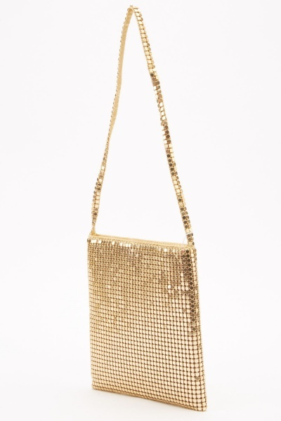Metal Mesh Link Mini Bag
