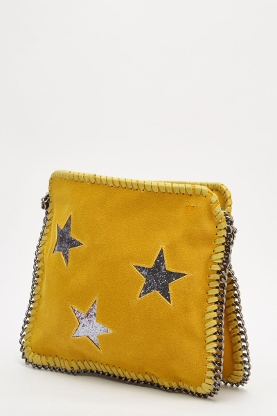 Glitter Star Detail Chain Bag