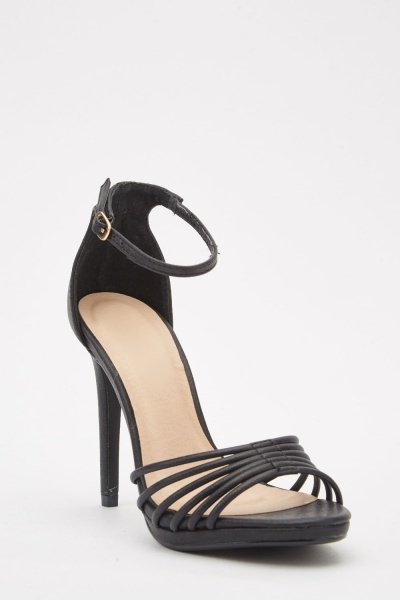 Strappy Ankle Strap Heeled Sandals