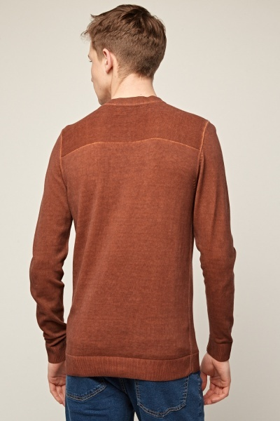 Faded Brick Ribbed Top