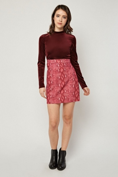 Animal Printed Mini Skirt