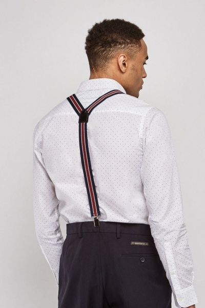 Colour Block Striped Braces