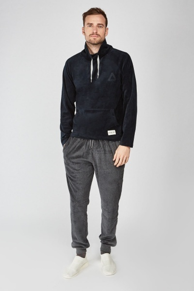 Pouch Pocket Front Jumper And Jogger Set