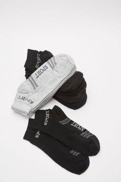 12 Pairs Of Mens Sports Socks