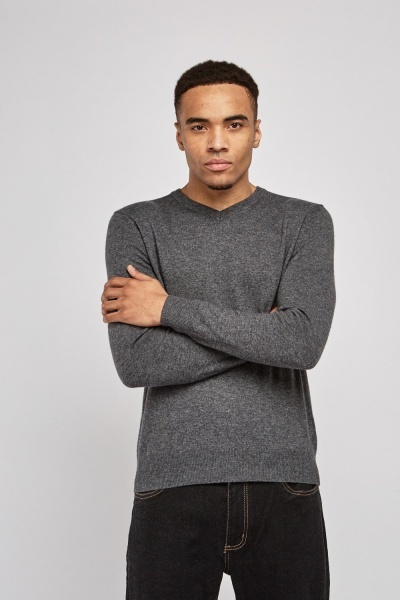 1dbcf1014d V-Neck Thin Sweater - Just £5